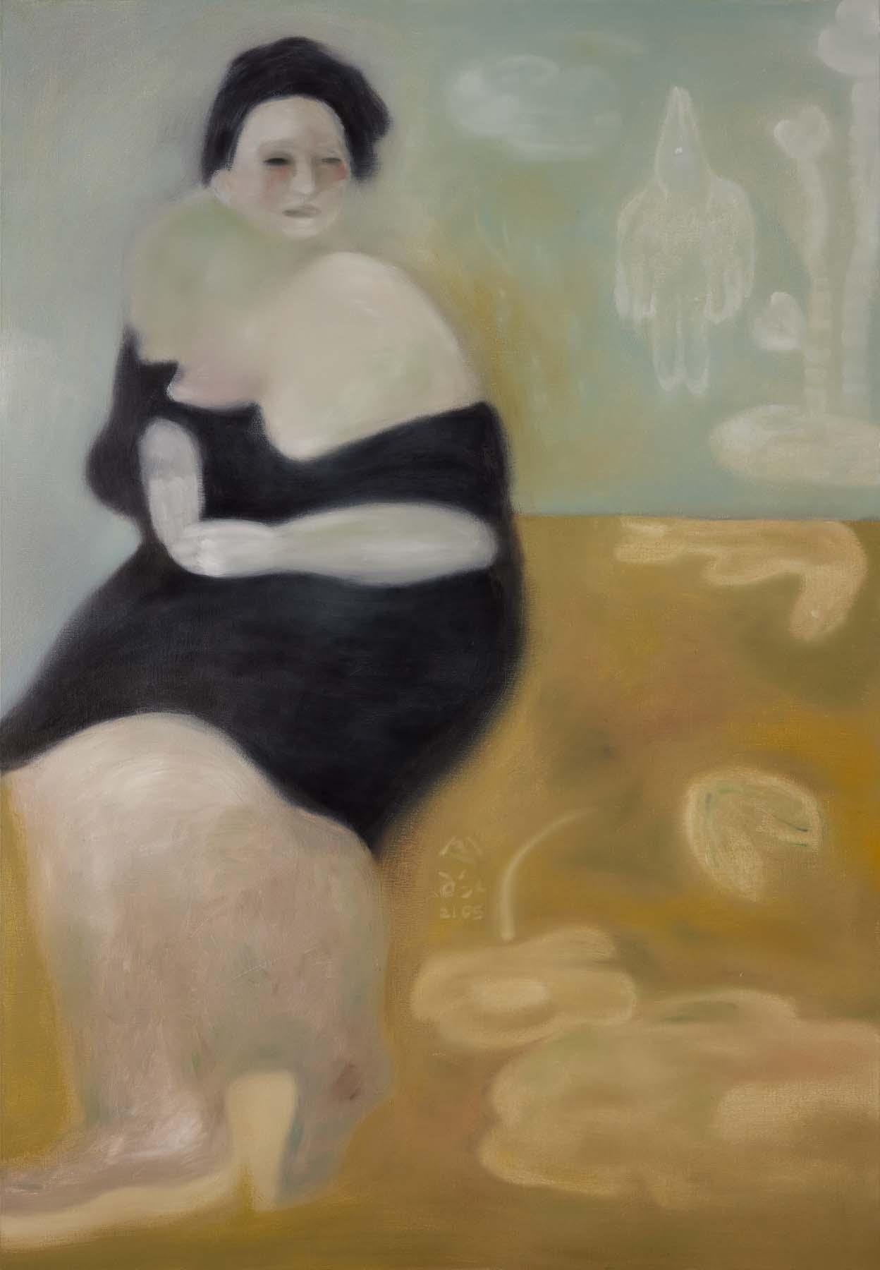 令詠 Ling Yung, 冥王星早餐 breakfast on pluto, 2021, 畫布油彩 oil on canvas, 173 x 120 cm