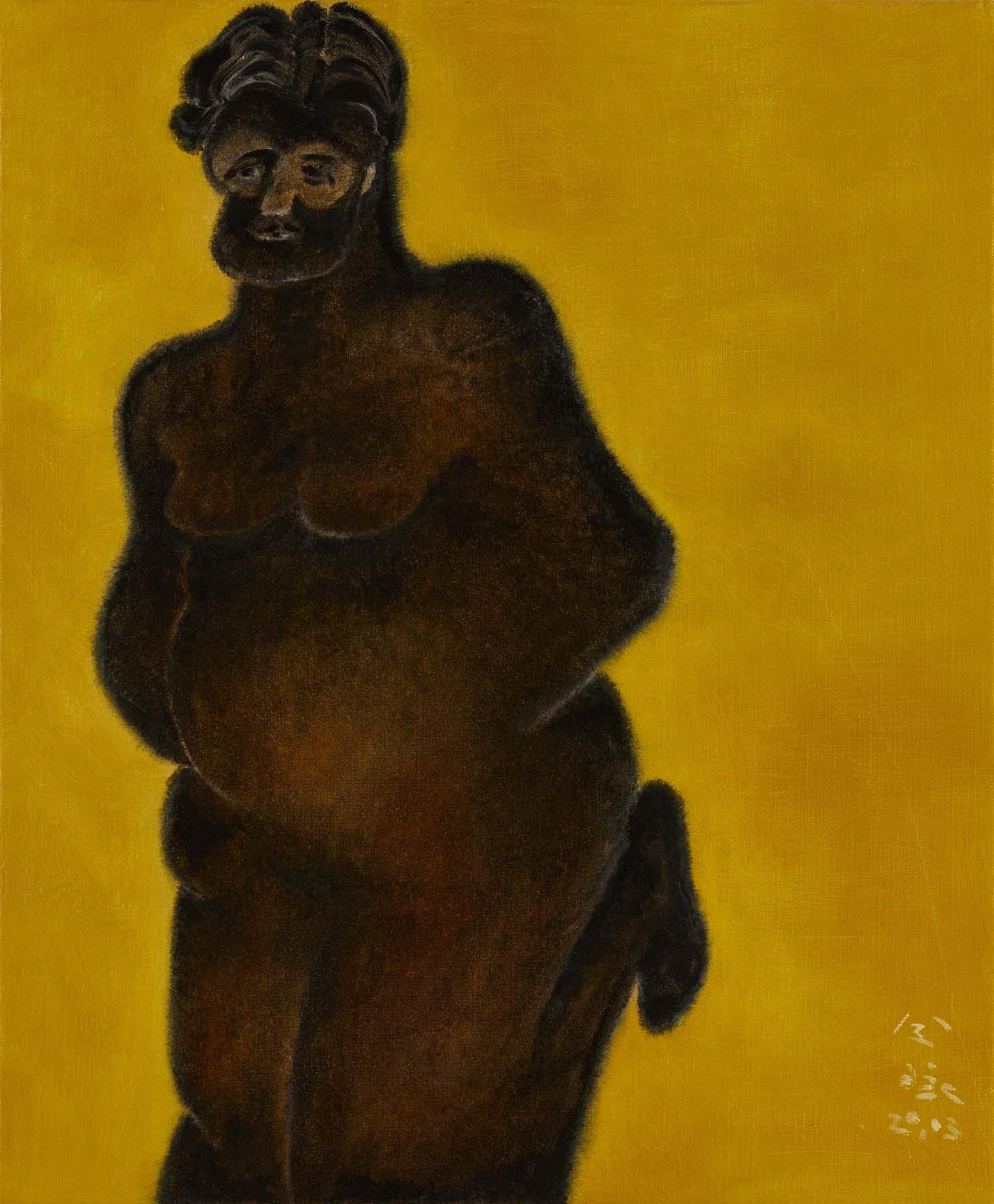 令詠 Ling Yung, 勞倫斯先生 mr. lawrence, 2020, 畫布油彩 oil on canvas, 60 x 50 cm