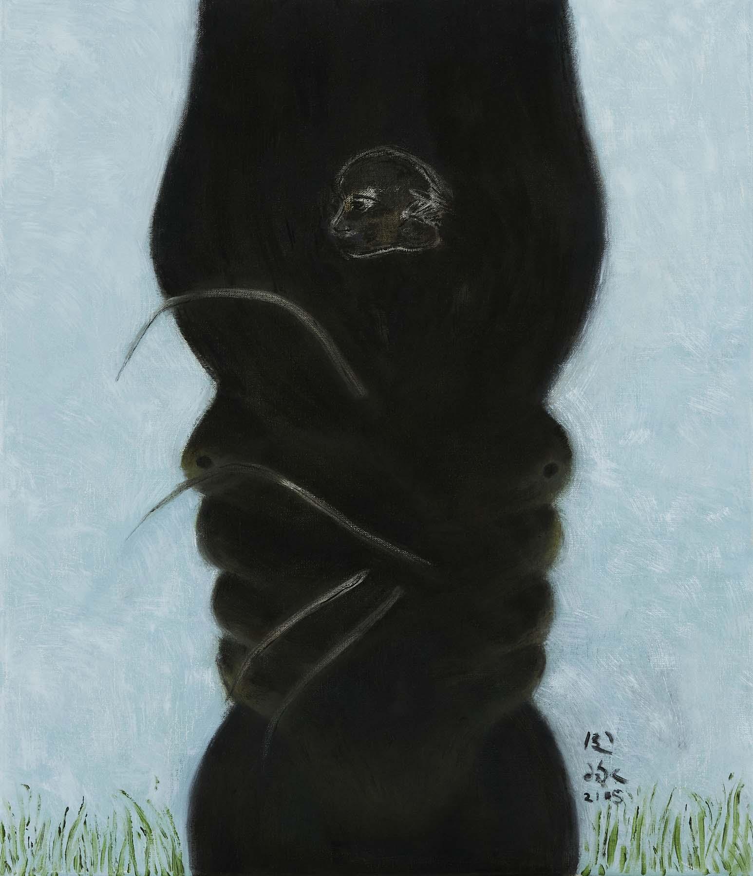 令詠 Ling Yung, 花長生 longevity hua, 2021, 畫布油彩 oil on canvas, 53 x 45.5 cm